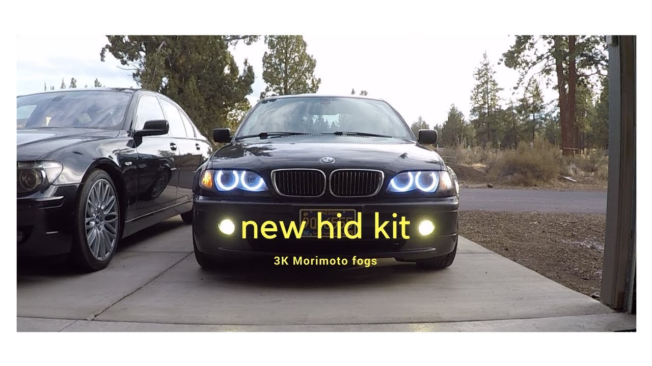 Morimoto HID fog lights on a 2002 Dinan e46 BMW YouTube