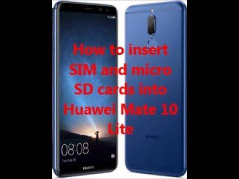 huawei mate 10 lite sim karte How to insert SIM and micro SD cards into Huawei Mate 10 Lite