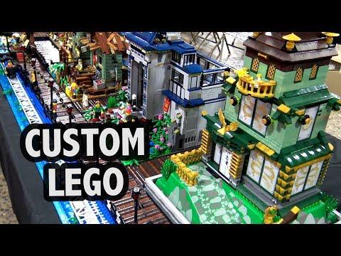 Custom LEGO Ninjago Harbor Village   Philly Brick Fest 2018