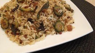 Bitter Gourd Recipe - Bitter Gourd Fried Rice - Bitter Gourd Pulao - Indian Veg