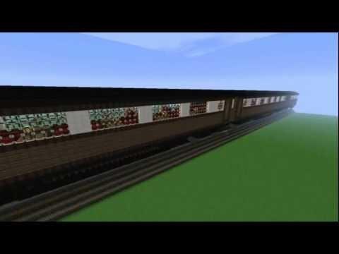 how to make train tracks on minecraft