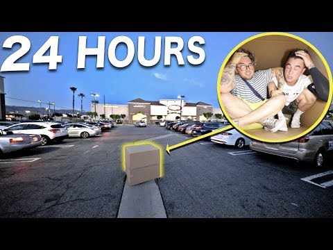 We Stayed Overnight In A Cardboard Box In The Middle Of A Parking Lot