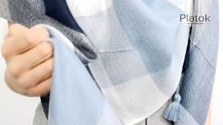 Шарф Плед Платок Хейли  с напылением кисти - обзор | Коллекция Spring story 2018