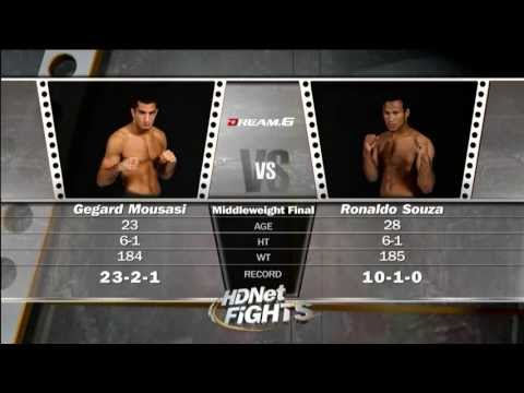 Gegard Mousasi  vs  Ronaldo Jacare Souza HD - Dream 6