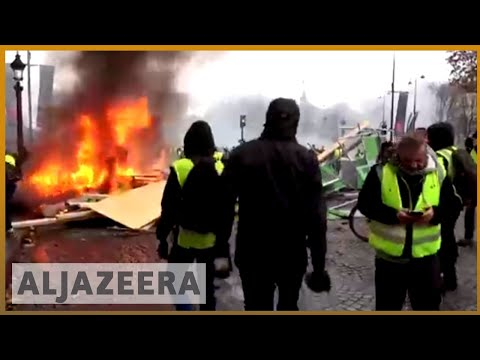🇫🇷French police fire tear gas, water cannon at protesters in Paris | Al Jazeera English Mp3