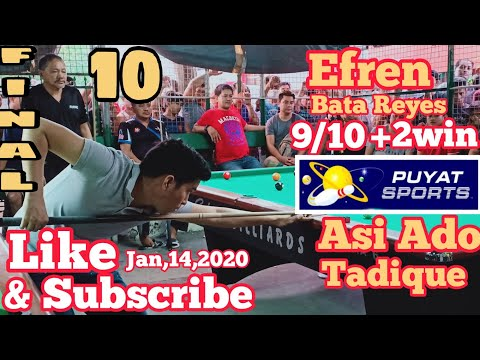 10/10 EFREN BATA REYES 9/10+2Win VS ASSIS ADO TADIQUE @LODORA VILLAGES,MUNTINLUPA
