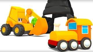 Мультики 2017: Экскаватор Мася и Яйцо с сюрпризом.  Мася собирает паровоз. Мультики для детей
