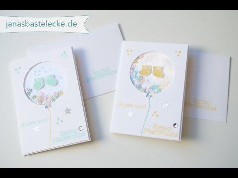 Kreativer Montag 55 - Baby-Schüttelkarte