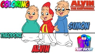 Alvin and the Chipmunks Coloring Pages - Kids Classic Cartoons Coloring Book