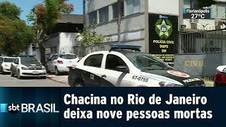 Chacina no Rio de Janeiro deixa nove pessoas mortas | SBT Brasil (21/01/19)
