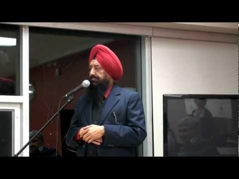 "Dr. Darshan  Singh addresses PUNJABI FORUM's Meeting at ""THE HUB"" TORONTO, CANADA"