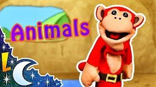 Los Animales en Inglés | El Mono Sílabo | Inglés para Niños | Lunacreciente