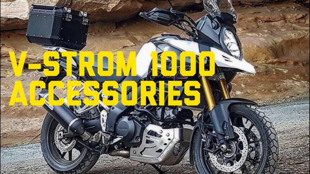 suzuki v-strom 1000 accessories - youtube