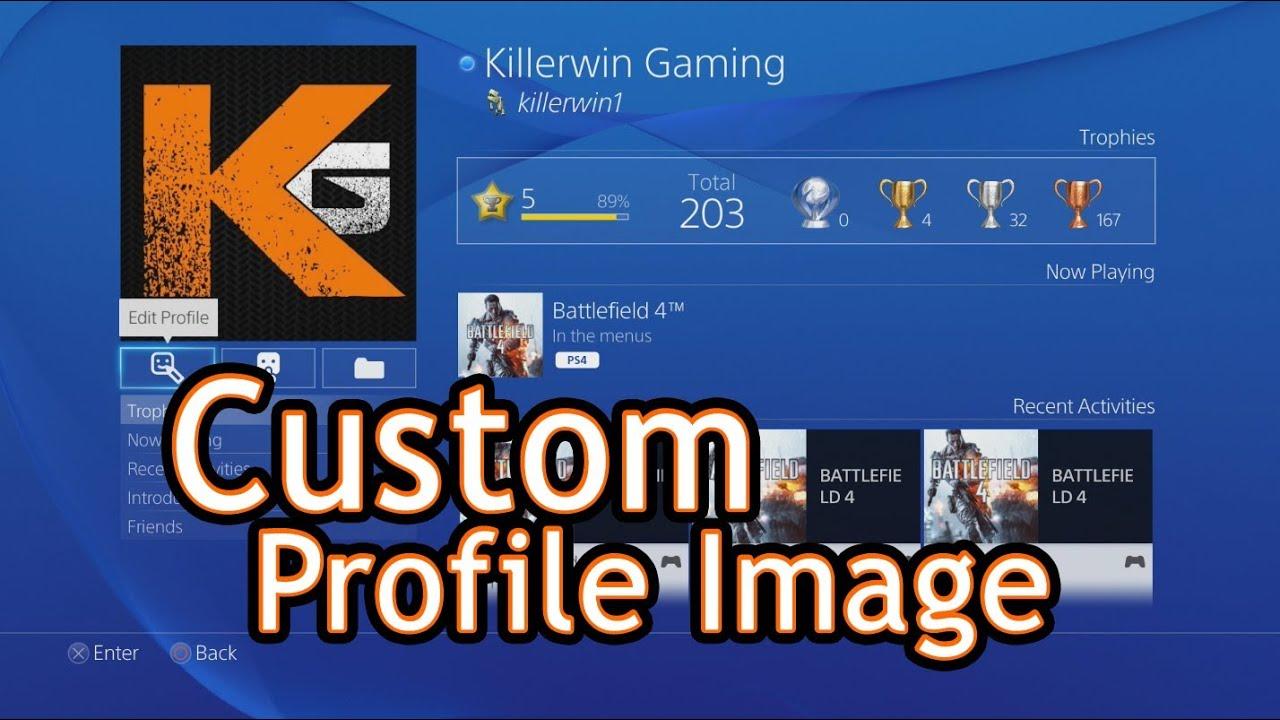 edit playstation profile