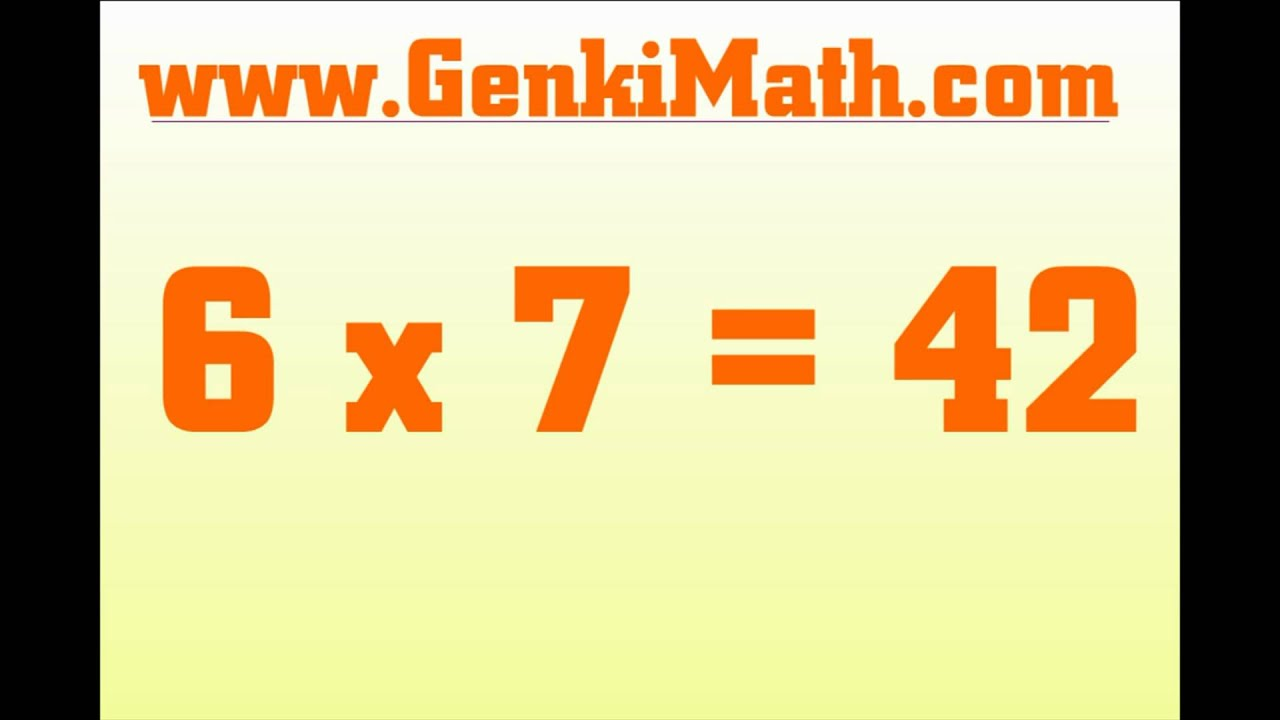 Genkimath 7 times table song multiplication tables youtube gamestrikefo Choice Image