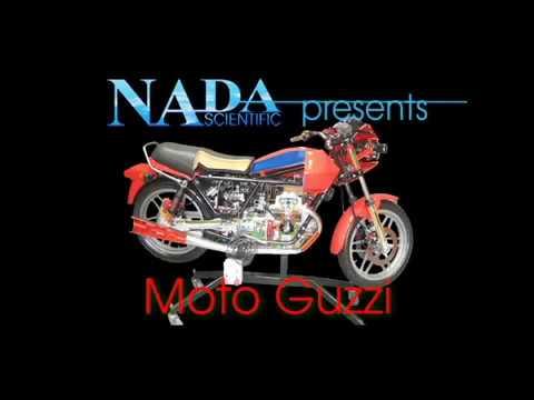 Motorcycle Cut Away V Twin Engine Moto Guzzi Nada Scientific