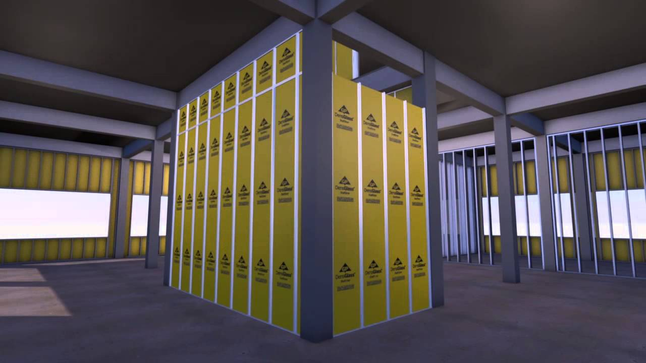 Densglass Shaftliner For Shaftwalls Stairwells Youtube
