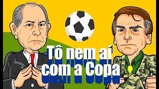 Bolsonaro e Ciro debatem... Copa! (Charge de humor)