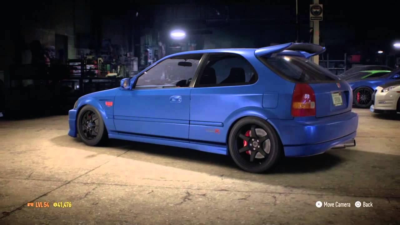 Nfs2015 eddie 39 s challenges 3 4 blue jdm honda civic type r for Honda civic ek9