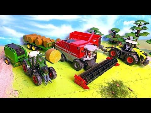 Trecker, Mähdrescher & Traktor - Bauernhof Fahrzeuge - Bauernhof Kinder - Farm Vehicles for Kids