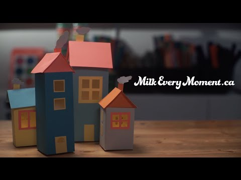 Milk DIY: Night Light Village