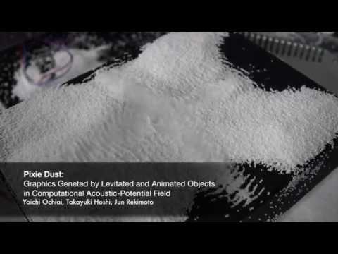 Auténticos «polvos mágicos» que levitan como formas 3D