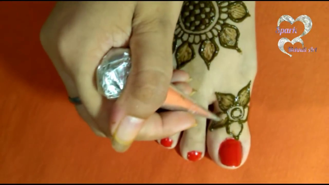 Most Awaited Video Ll Simple Foot Mehndi Design For Beginners Ll