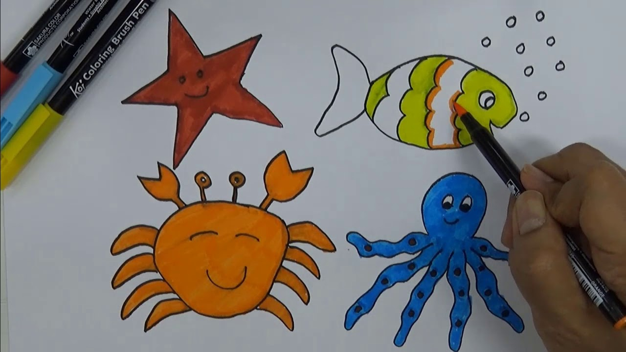 Easy drawing ideas for kids colouring activities for 6 year olds part 1