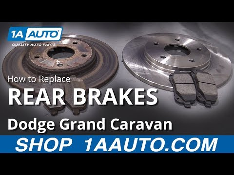 How to Replace Rear Brakes 08-20 Dodge Grand Caravan