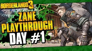 Borderlands 3 | Zane Playthrough Funny Moments And Drops | Day #1