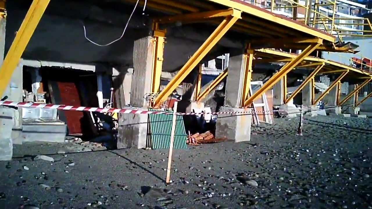 Mareggiata del 16-17 dicembre 2011 ecco i Bagni Lido di Deiva Marina ...