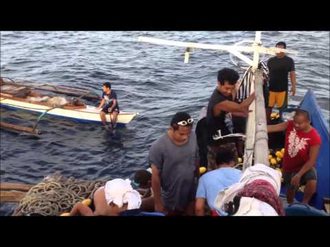 Fishing at Loon, Bohol shore after the Typhoon and Earthquake - 007