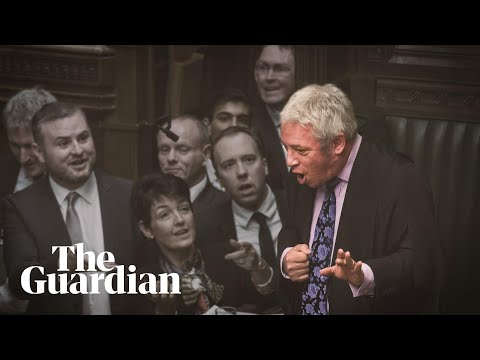 'Order!': John Bercow's decade of thunderous pronouncements