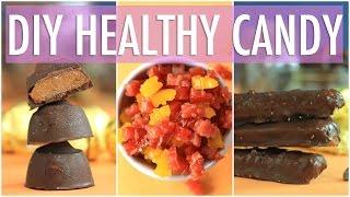 DIY HEALTHY HALLOWEEN TREATS | Homemade TWIX, ROLO & GUMMY BEARS