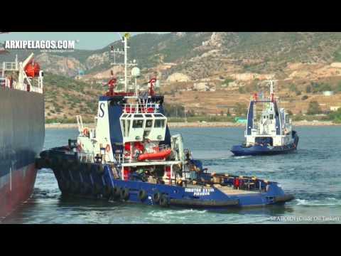 SEABORN - Crude Oil Tanker  IMO 9288746 Accompanied by tugs in Elefsina