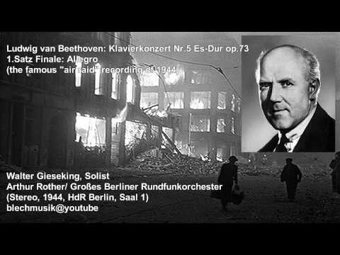 Beethoven (1944, Stereo): Allegro from Concerto for piano and orchestra No.5 - Gieseking/RO Berlin