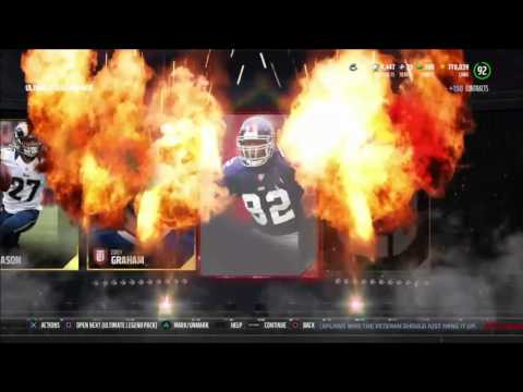 MICHAEL STRAHAN AND KEVIN MAWAE! | MADDEN 17 ULTIMATE TEAM PACK OPENING