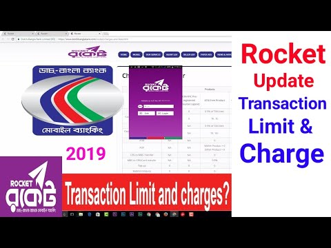 DBBL Rocket Transaction Limit and charges and fees last update 2019 All Details explanation
