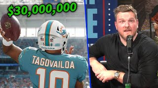 Pat McAfee Reacts To Tua Tagovailoa's HUGE Contract