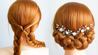 Prom Hairstyles Low Bun Updo Wedding New Hairstyles For Long Hair Girls Bridal Hairstyle Girls