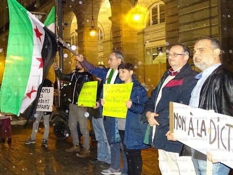 سوريون وفرنسيون في وقفة تضامنية مع إدلب