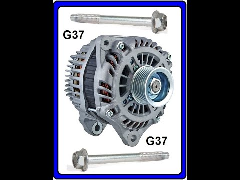 How to change the alternator in a 2012 Infiniti G37, Alternator remove and replace