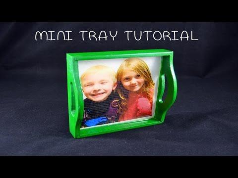 Tutorial - Mini Wood Tray w/ Resin - A Crafting Newbie Series Video