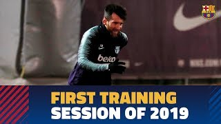Barça squad trains for the first time in 2019