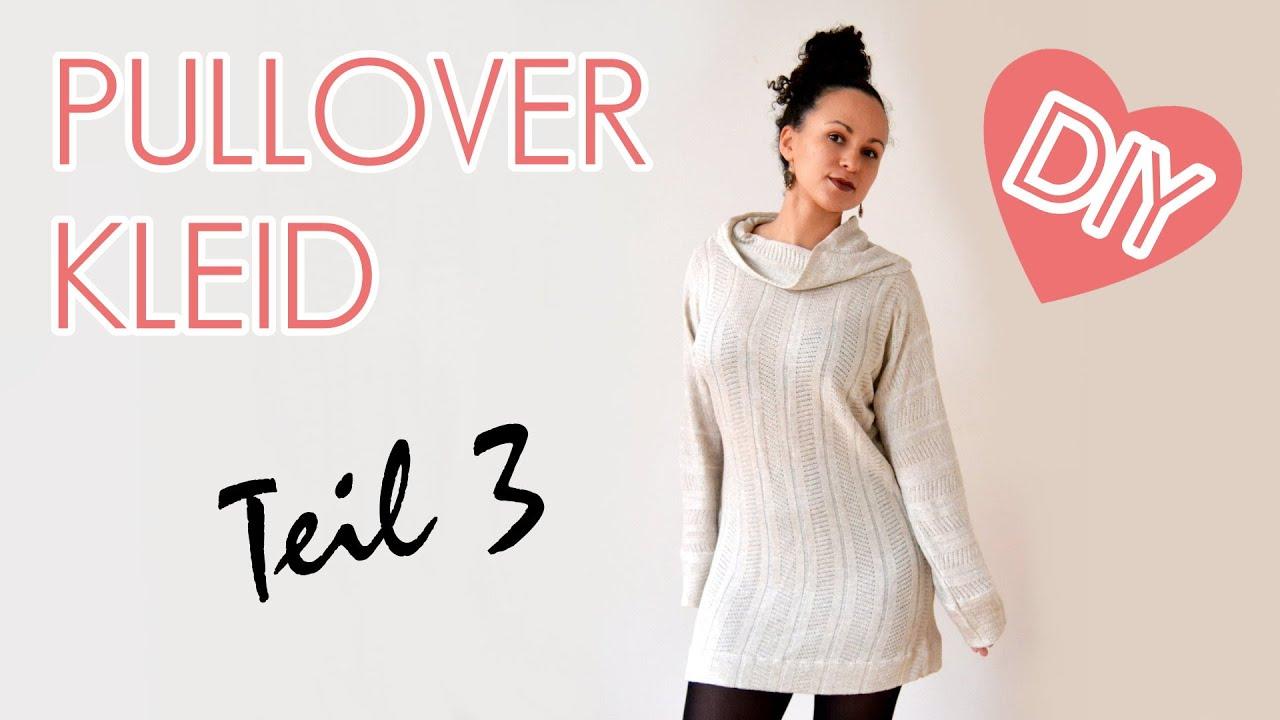 diy oversized pullover kleid mit kragen n hen f r anf nger teil 3 youtube. Black Bedroom Furniture Sets. Home Design Ideas