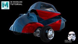 3D Modeling a Car in Maya - Fender & Side Panels