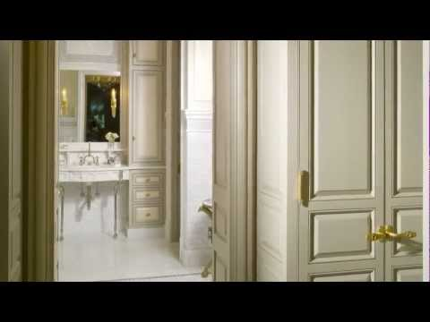 Bathroom Trends - Traditional French architecture and interiors in this Atlanta master suite