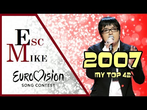 Eurovision 2007 - My Top 42 [With Rating]
