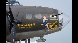 WORLDS MOST FAMOUS US Air Force B-17 Memphis Belle Aircraft restored and operational