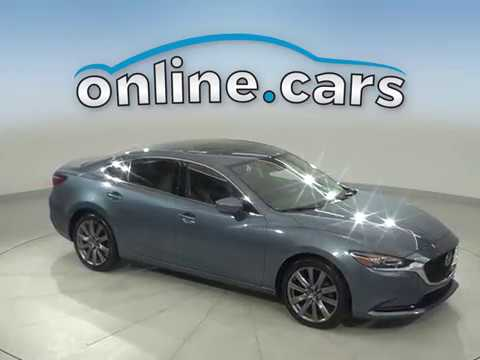 G16791TR Used 2018 Mazda 6 Blue Sedan Test Drive, Review, For Sale